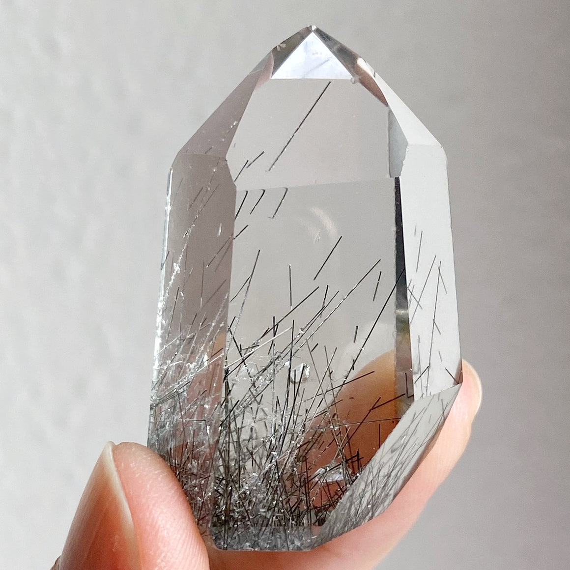 Black Rutile in Quartz Point RQP72