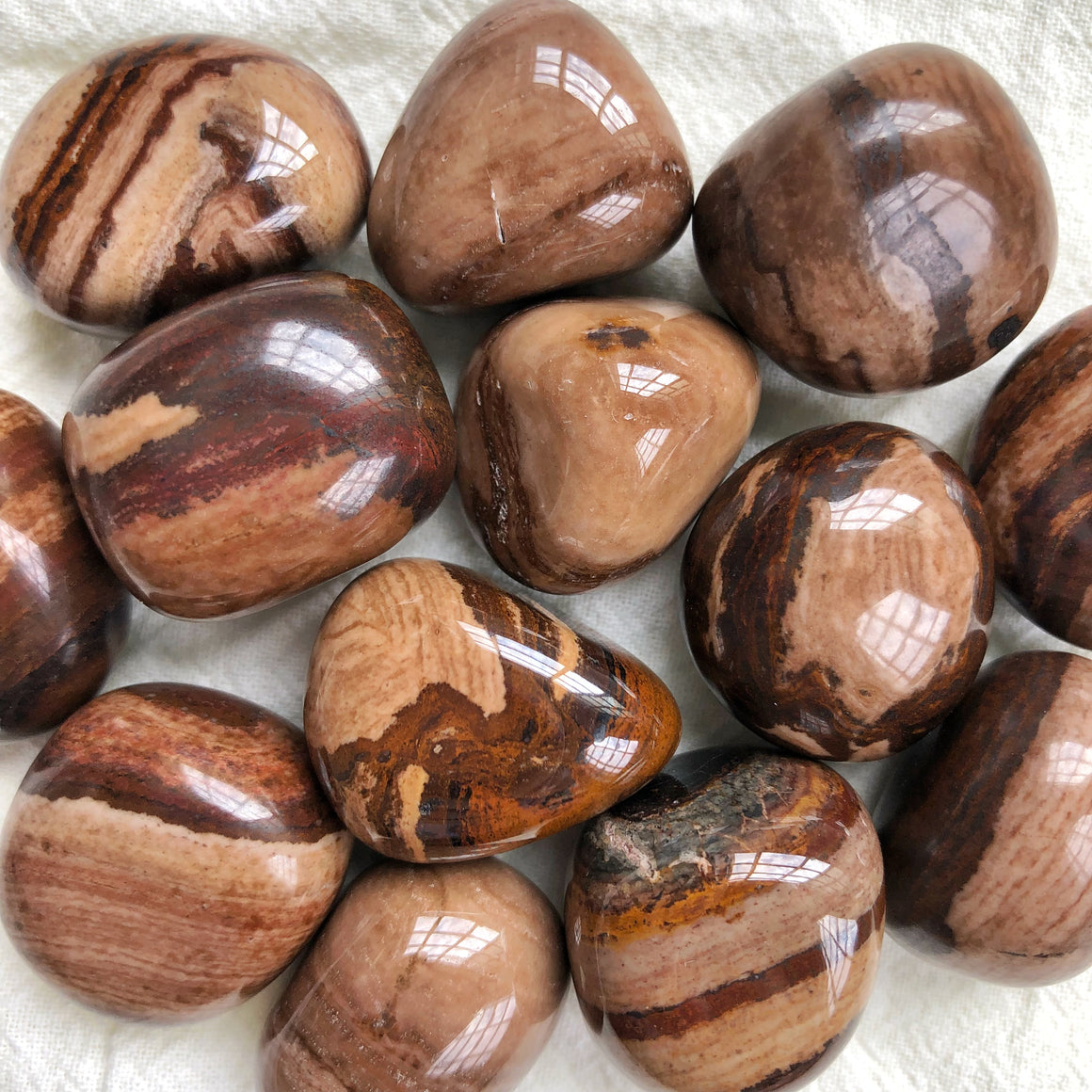 Chocolate Jasper Tumbled Stones