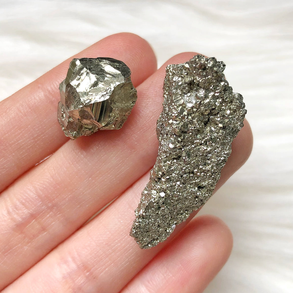 Golden Iron Pyrite Cluster Set #D22