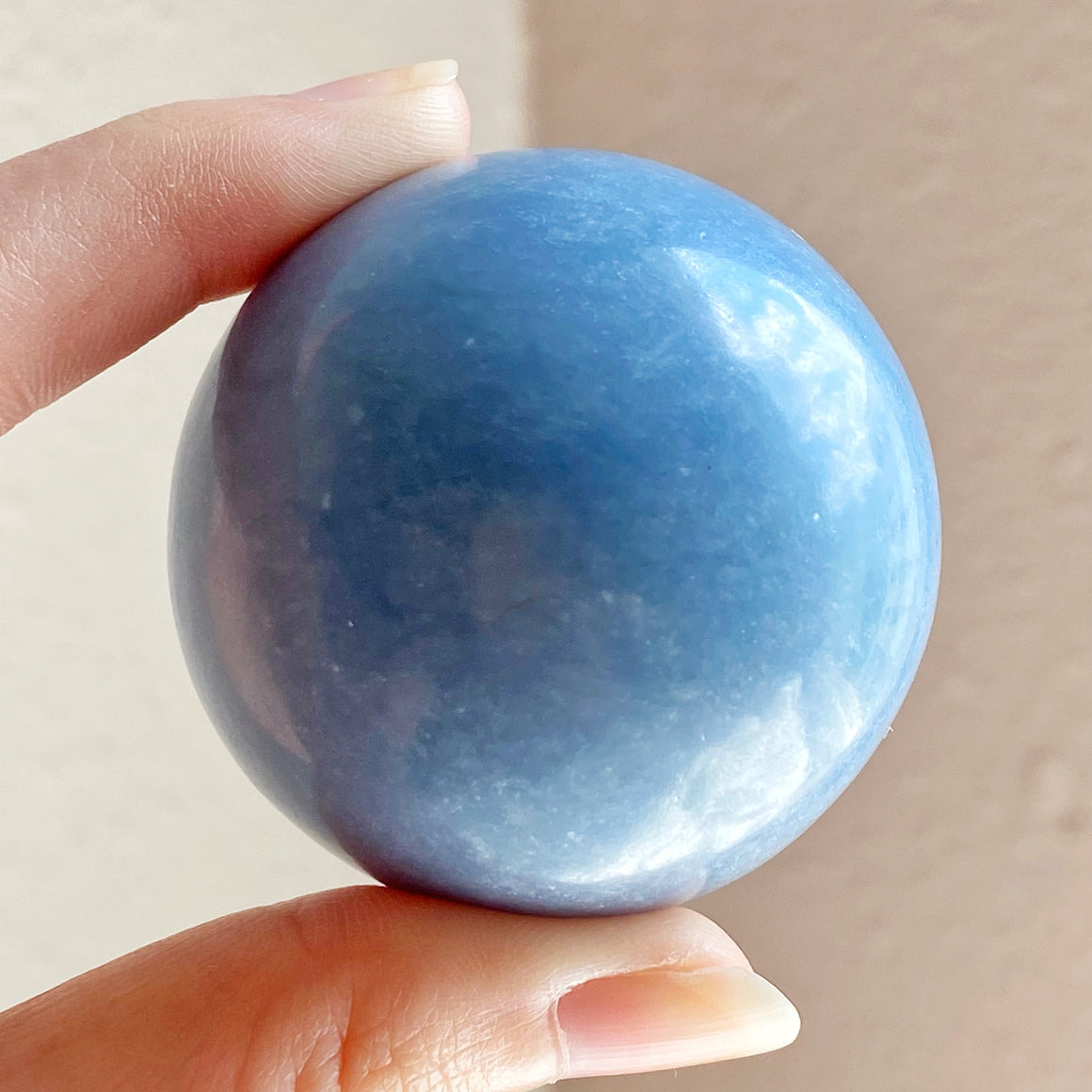 RESERVED - Angelite Polished Sphere (46mm)
