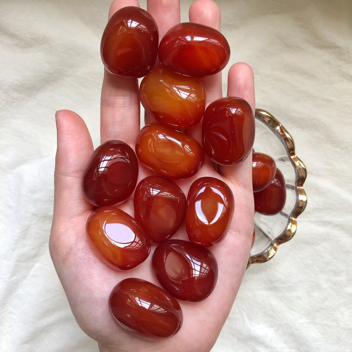 Dark/Red Carnelian XQ Tumbled Stones