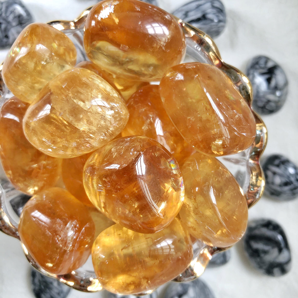 Honey Calcite XQ Tumbled Stones