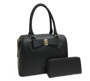 Bow-Tie Satchel- Black
