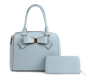 Bow-Tie Satchel- Powder Blue