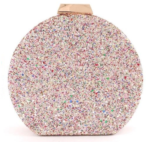 Multicolor Glitter Clutch