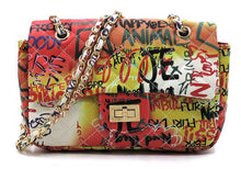 Graffiti Print Versatile Bag- Red