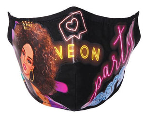Nicole Lee Mask- Retro Party- Black