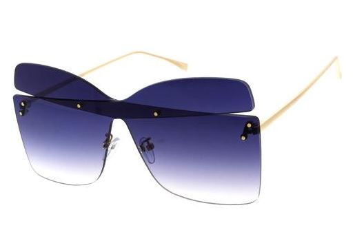 Two-tone sunglasses- Smoke Blue