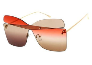 Two-tone sunglasses- Red