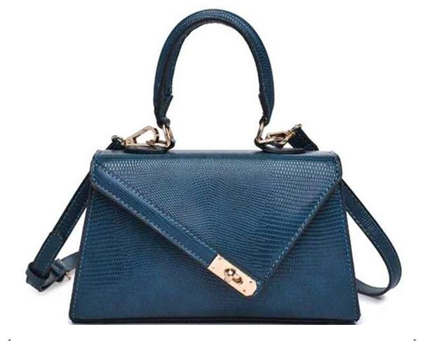 The Chic Satchel- Teal Blue