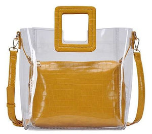 Yellow 2 In 1 Transparent Tote