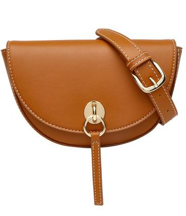 Brown Half Moon Fanny Pack