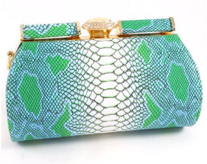 Green Leatherette Clutch
