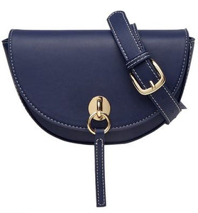Navy Blue Half Moon Fanny Pack