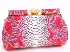 Pink Leatherette Clutch