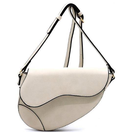 Cream Sleek Crossbody