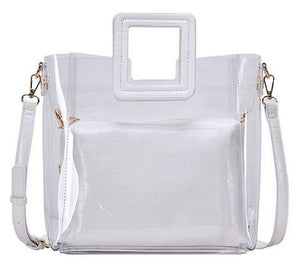White 2 In 1 Transparent Tote