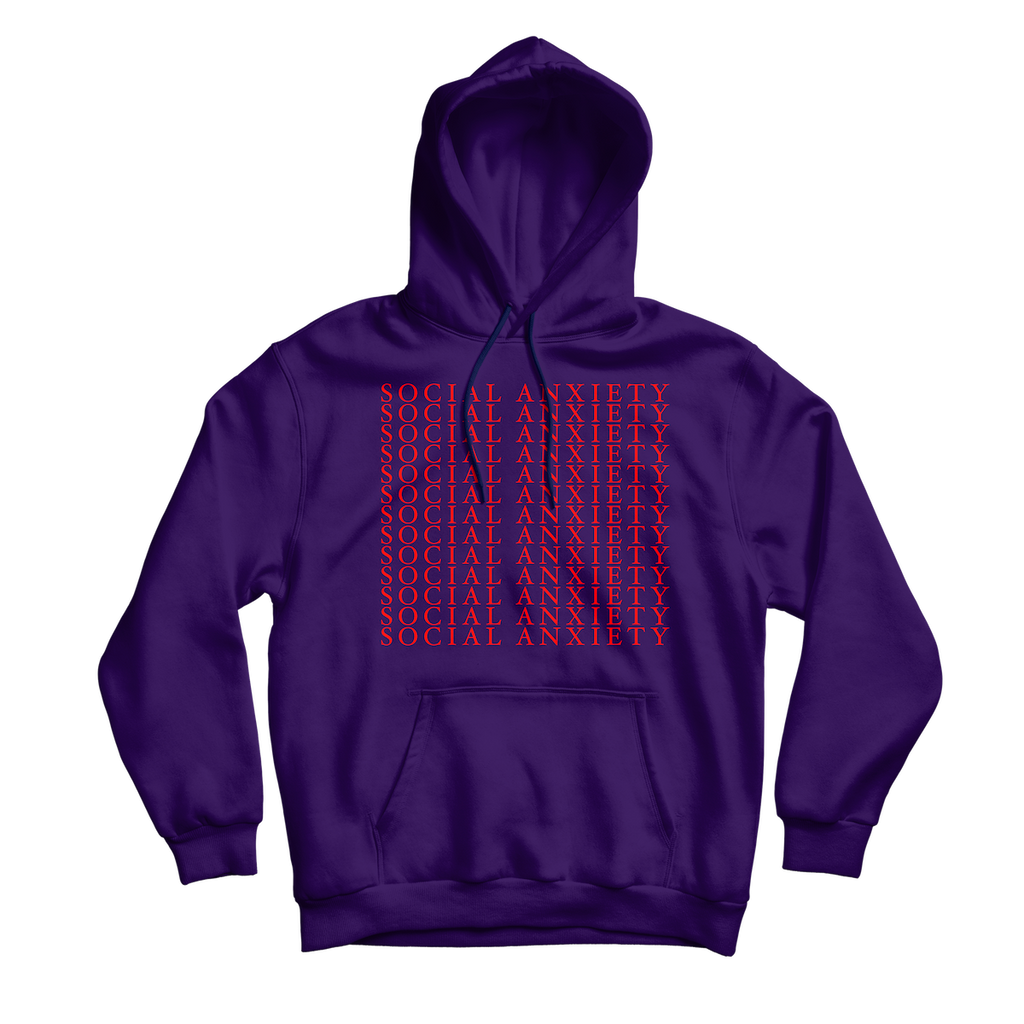 Social Anxiety Purple Hoodie