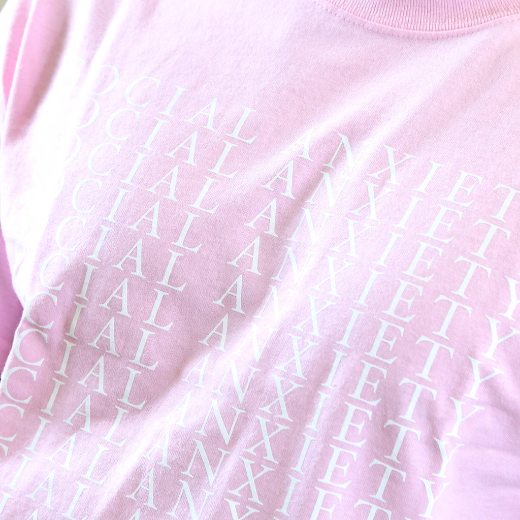 Social Anxiety Light Pink Tee