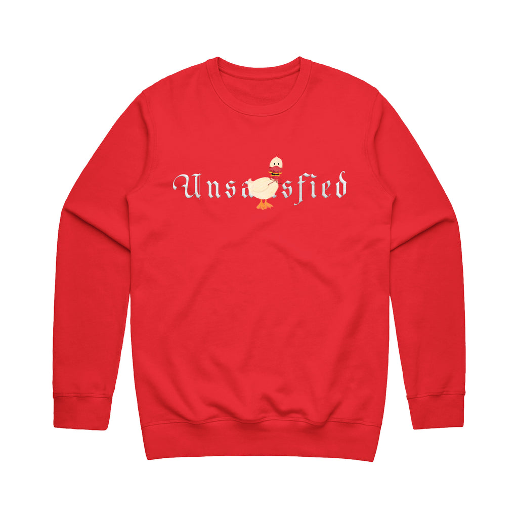 Unsatisfied Bird Red Crewneck