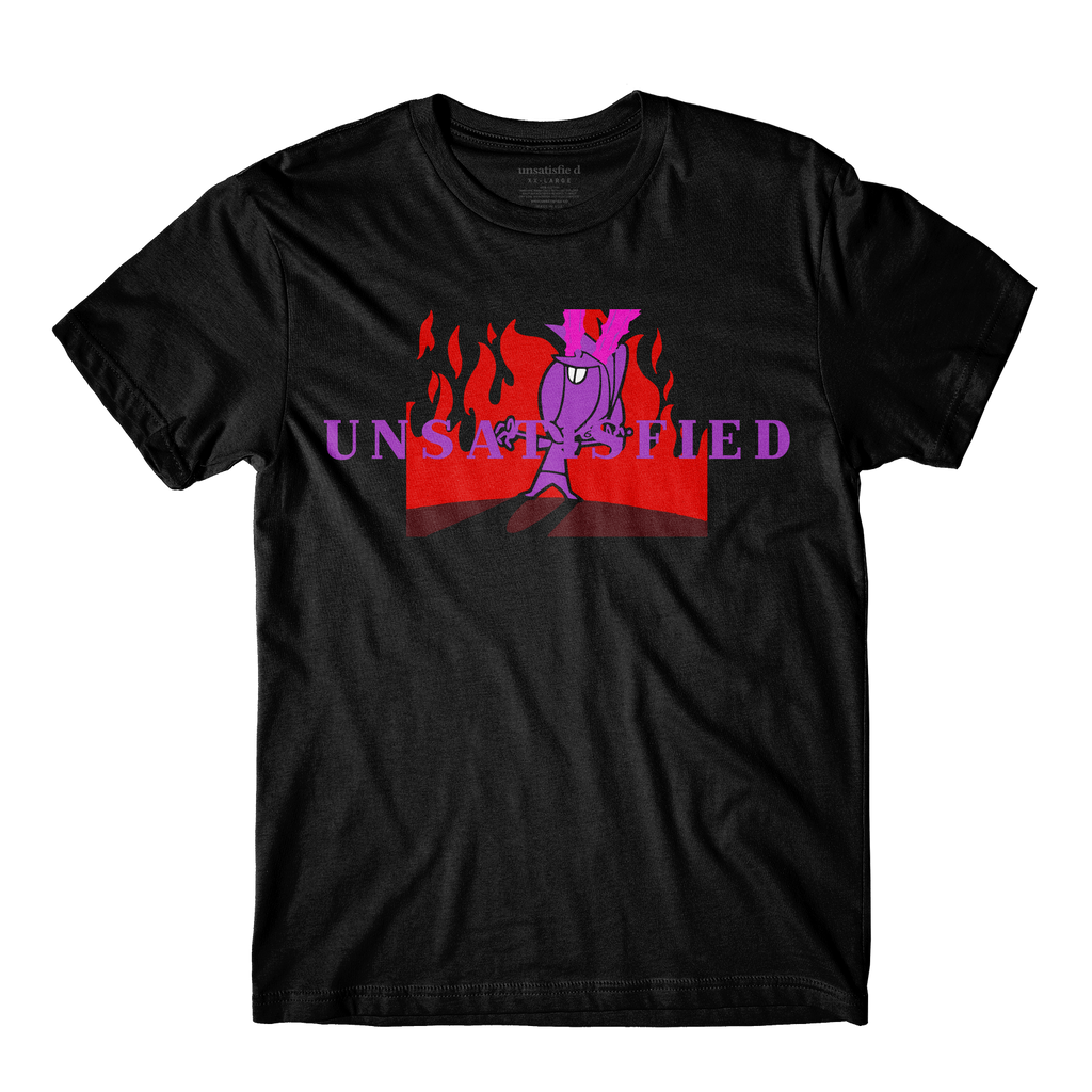 Unsatisfied Vision Black Tee