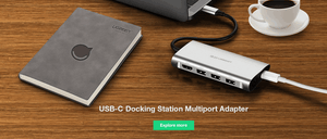 USB-C Docking Station Multiport Adapter,USB Type C Ethernet Adapter,USB-C To RJ45