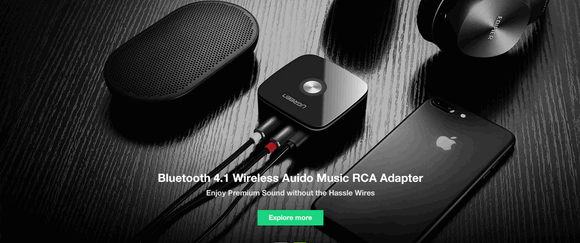 BluetoothWireless Audio Music RCA Adapter,USB Bluetooth Dongle Receiver