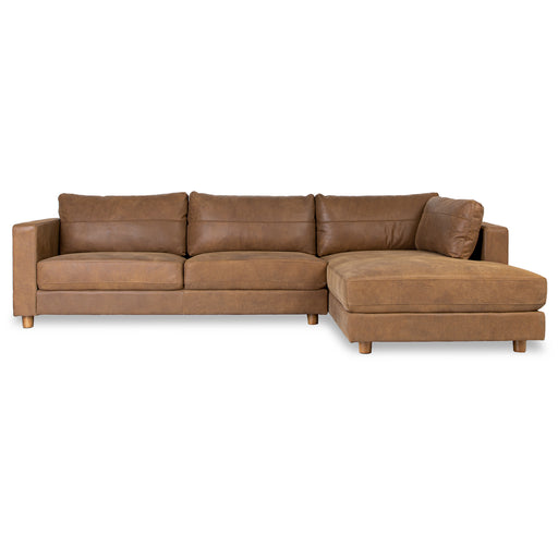 BARCELONA LEATHER - 3 Seat, Right Side Facing Modular Sofa