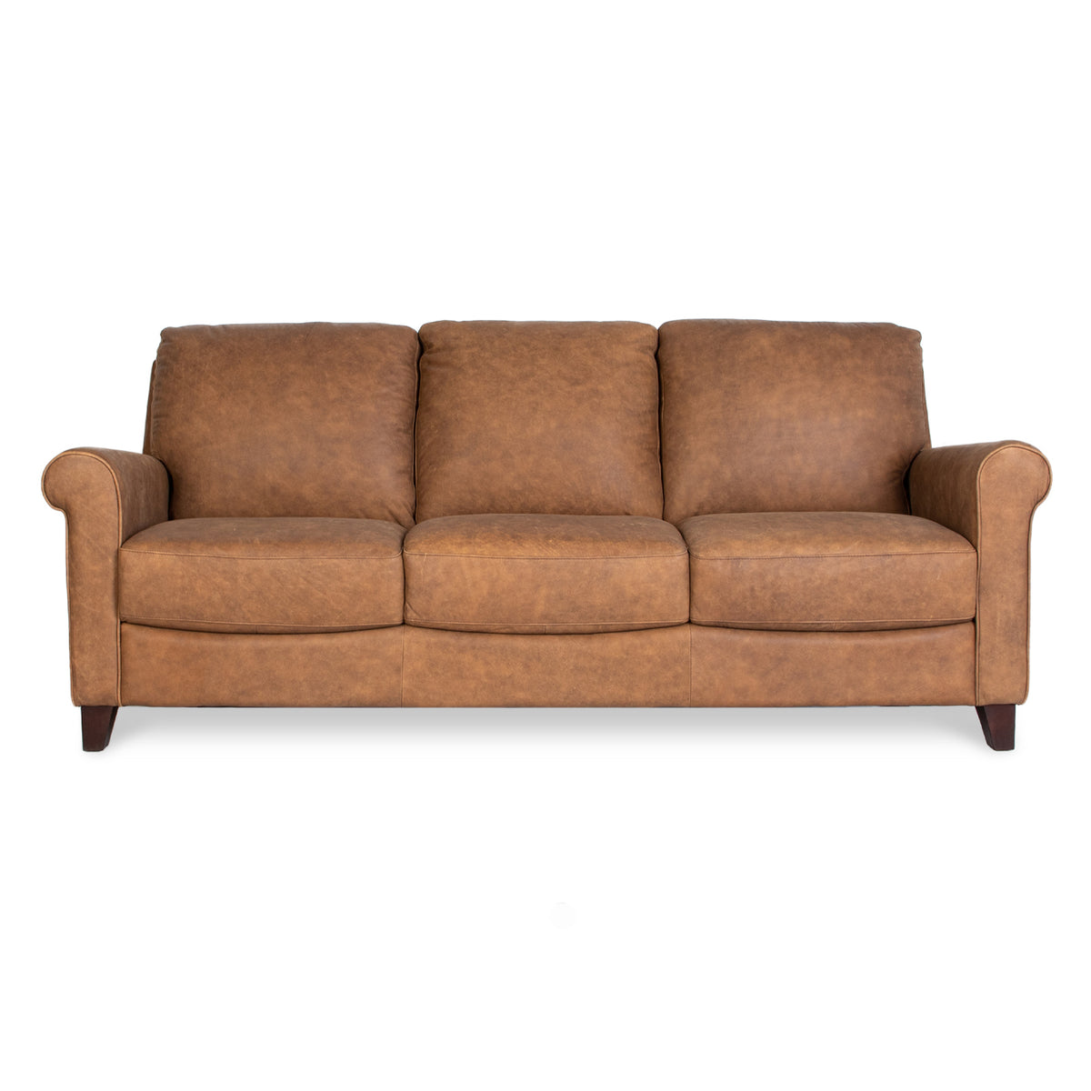 Camilla Leather 3 Seat Sofa in Naples Natural