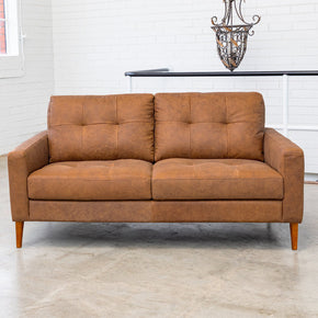 LUXE - 2.5 Seat Naples Natural Italian Leather Sofa