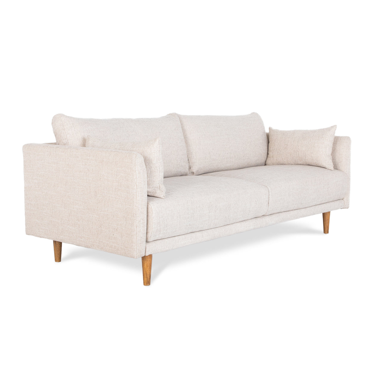 side of cream 3 seater sofa