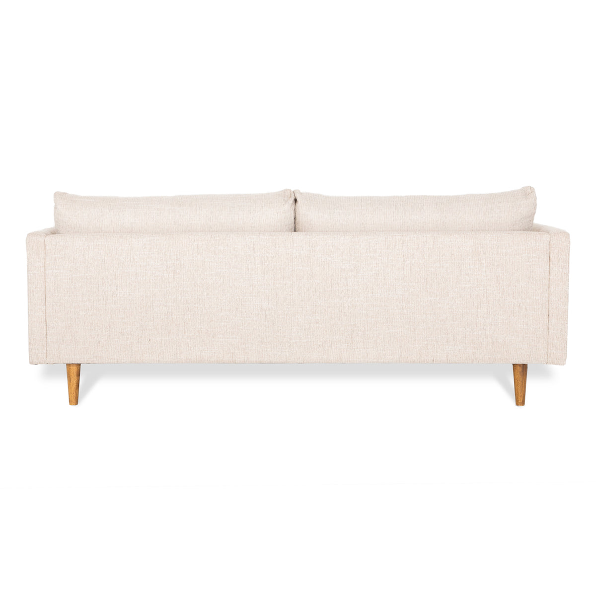 back of cream 3 seater sofa