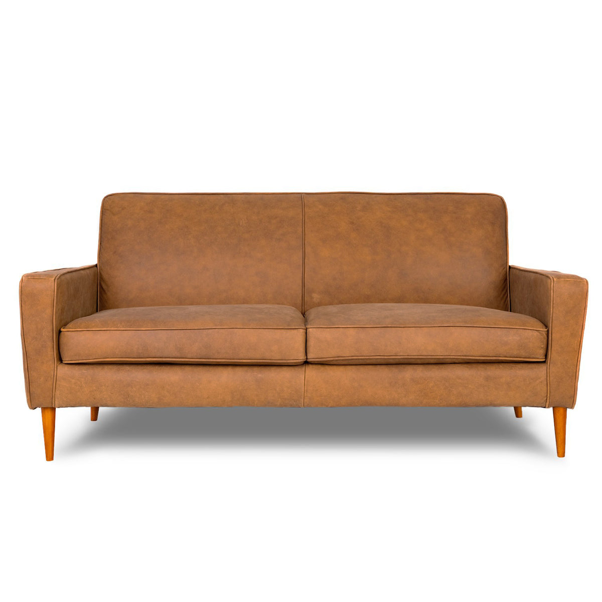 London Leather 3 Seat Sofa in Naples Natural