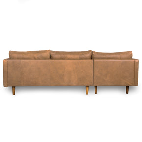 JORDIE LEATHER - 3 Seat, Left Side Facing Modular Sofa