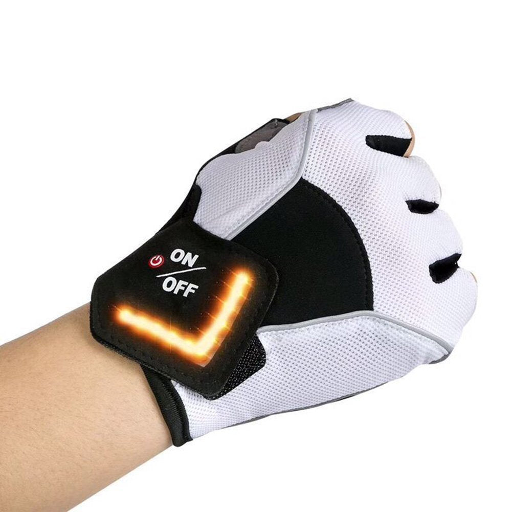 LED waterproof cycling glove & outdoor running fishing camping activities direction lighting glove