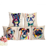 Artsy Dog Throw Pillow Case