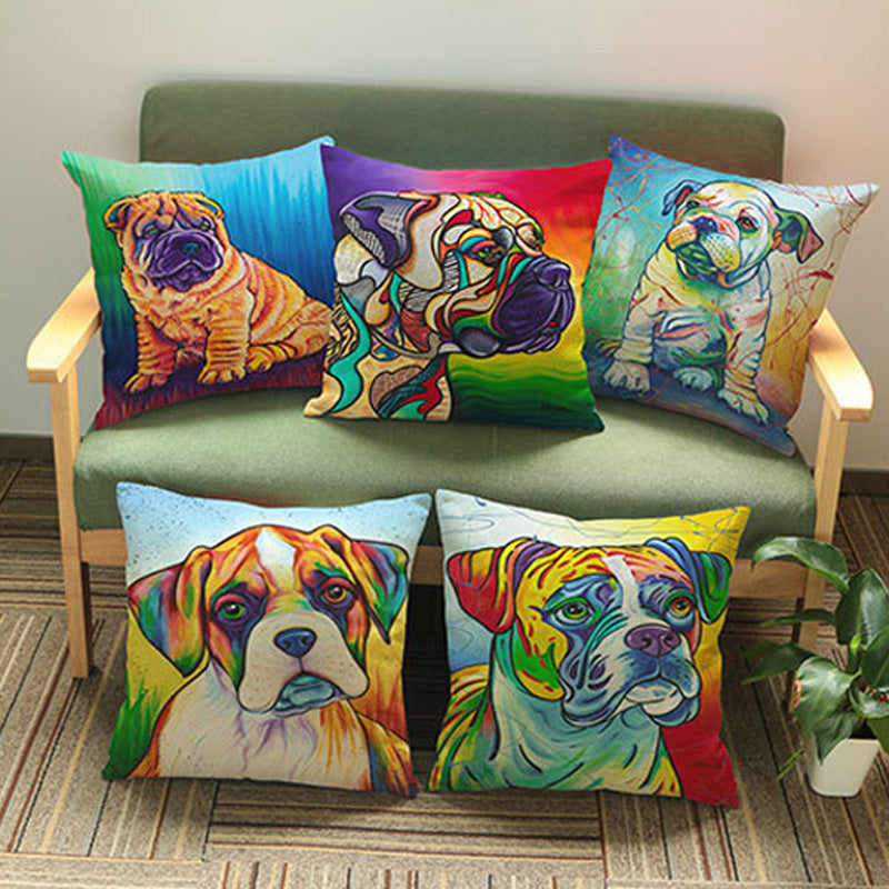 Rainbow Throw Pillow Covers