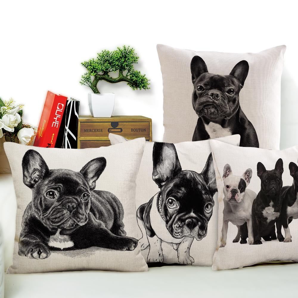 Classic Bulldog Throw Pillow Covers
