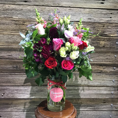 Valentines Vase of flowers delivered