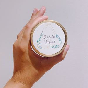 BRIDE VIBE - Gold Candle Tin
