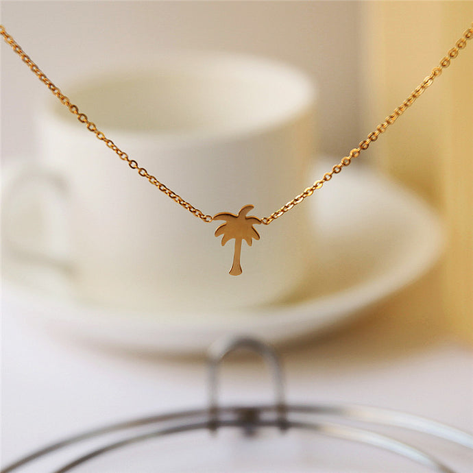Bohemian Palm Tree Necklace