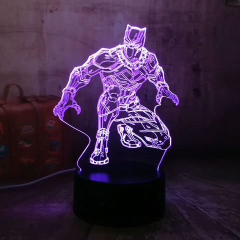 Black Panther 3D Hologram Table Lamp