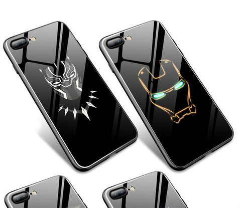 Avengers Glow In the Dark Phone Cases: Tempered Glass