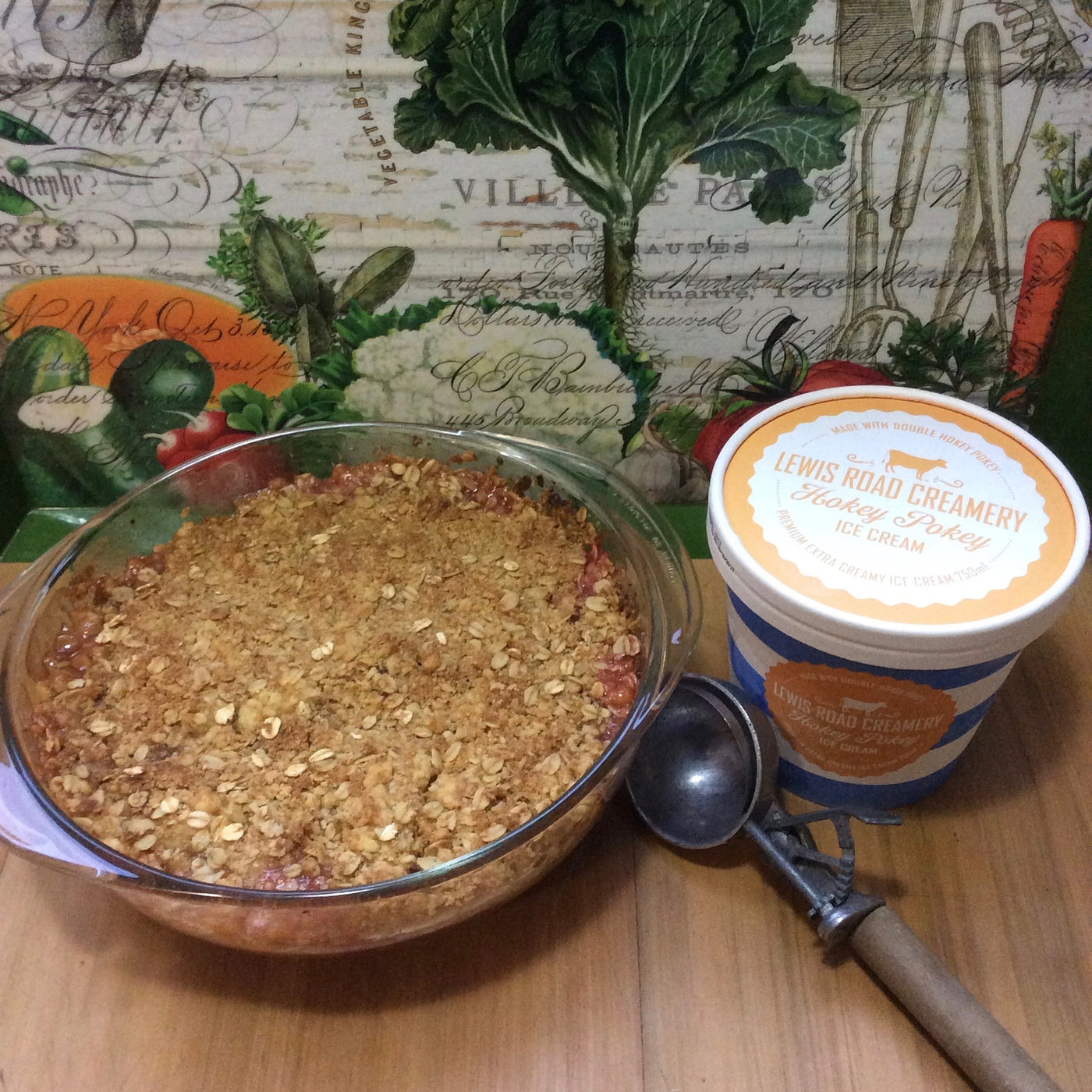 Rhubarb Season - Warming Crumble