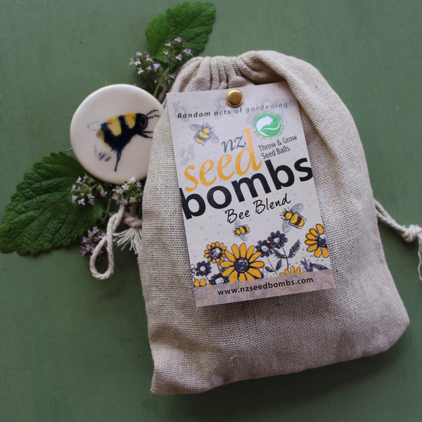 Puriri Lae | Bee Aware Month | Bee Seed Bombs