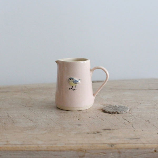 Puriri Lane | Tiny Jug | Pink | Blue Tit