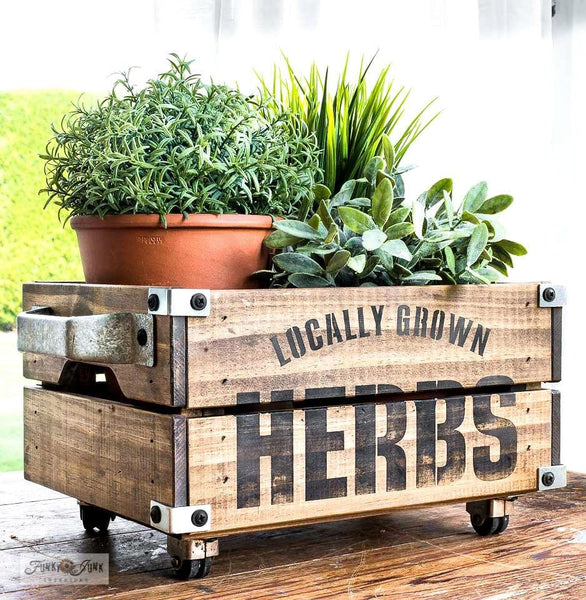 Puriri Lane | Stencil | Locally Grown Herbs