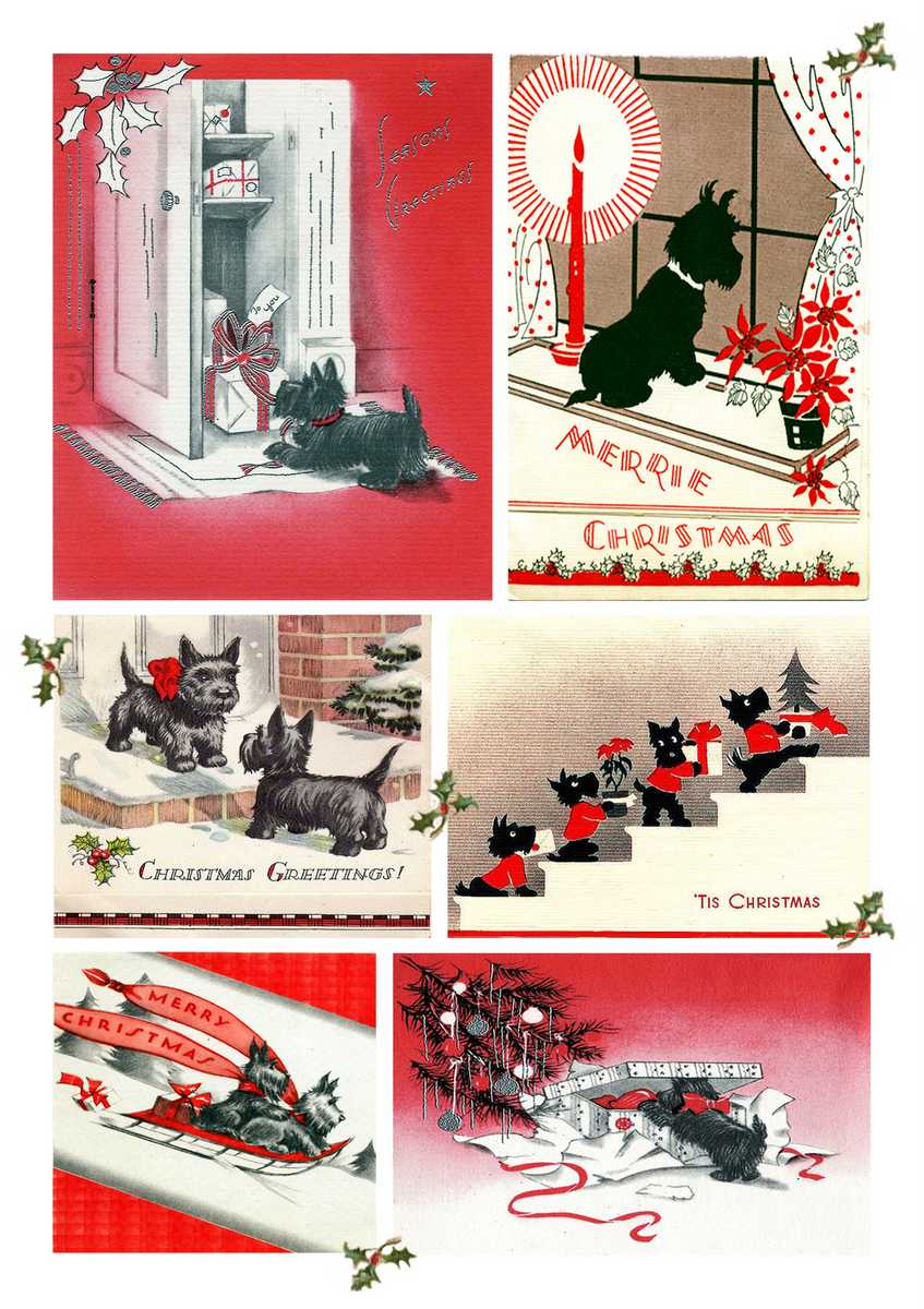 Christmas Scottie Dogs | Madame Treacle