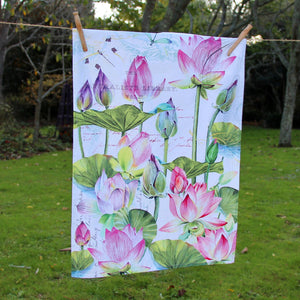 Puriri Lane | Water Lillies | Tea Towel