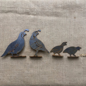 Quail Family | Set of 4 | Flat Bars